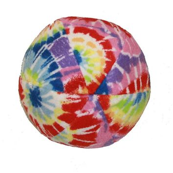Multipet Tie-Dye Ball 5-in. Plush Dog Toy