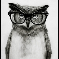 Mr. Owl Art Print by Isaiah K. Stephens