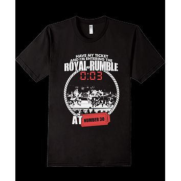 Royal Rumble Rare WWE Wrestling Ticket T-Shirt Suplex 30 Man