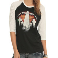 Metallica Crosses Girls Raglan
