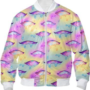 AHEGAO EYES - BOMBER JACKER created by yiq | Print All Over Me