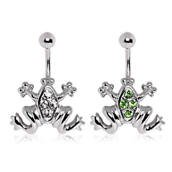 316L Surgical Steel Jumping Frog Navel Ring