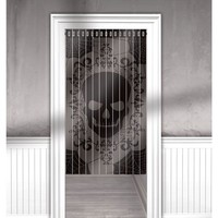 Lace Mesh Skull Curtain