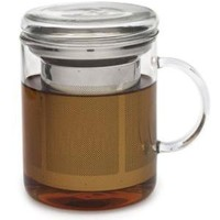 Glass Mug and Infuser from Adagio Teas