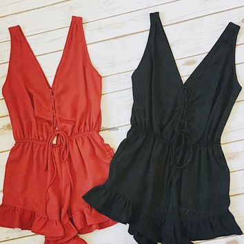 Play Romper (Burgundy)