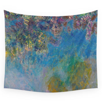 Society6 Wisteria By Claude Monet Wall Tapestry