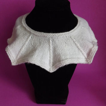 Knitted Collar - Knitted Detachable Collar - Knitted Peter Pan Collar - Knit Detachable Collar