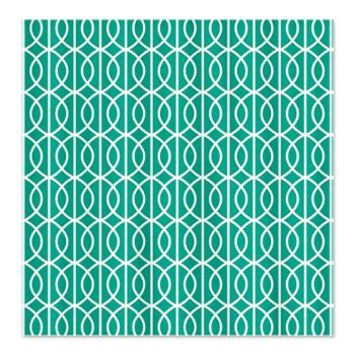 Emerald Green Modern Ogee Pattern Shower Curtain> Emerald Modern Ogee Pattern> Cierra's Pattern Decor and Gifts