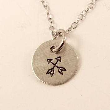Crossed Arrows Charm Necklace
