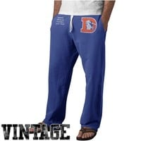 Denver Broncos Varsity Warm Up Vintage Logo Sweatpants - Royal Blue