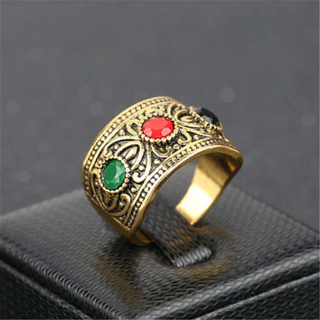Fashion Casual Women Ring Vintage Handmade Jewelry Girls Ring Unique Mens Punk Ring Best Christmas Gift Rings-57