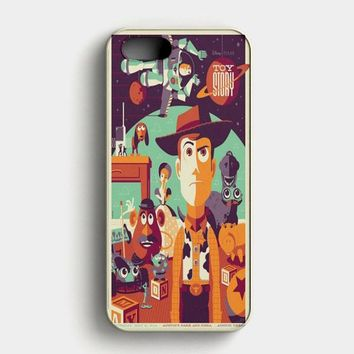 Toys Story Woody Film Art Disney Poster iPhone SE Case