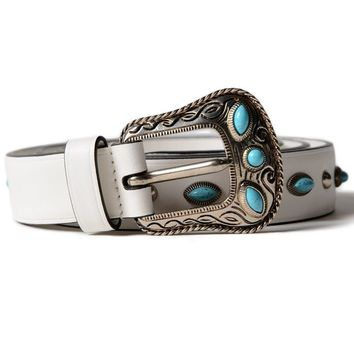 Best price on the market: Prada Prada City Calf Folk Belt