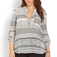 Blurred Lines Woven Top