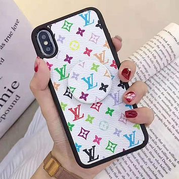 Louis Vuitton LV Supreme Gucci Stylish iPhone Phone Cover Case For iphone 6 6s 6plus 6s-plus 7 7plus 8 8plus iPhone X XR XS XS MAX White