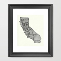 It's California Time - Line Art Framed Art Print by BrickHouseArt | Society6