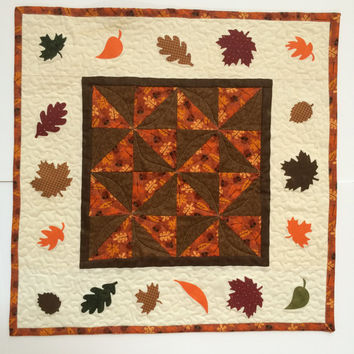Fall Quilted Table runner, Fall Quilted Wall hanging, Fall Quilted Table topper