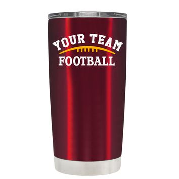 TREK Custom Football Team on Translucent Red 20 oz Tumbler Cup