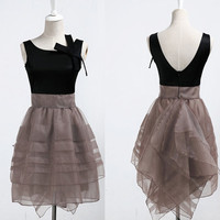 Elegant Goddess Hepburn retro Tutu Skirt/ Bridesmaid Dress