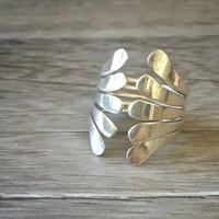 Vintage Silver Fashion Ring, Statement Wide Silver Ring