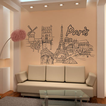 Vinyl Wall Decal Sticker Paris #1383