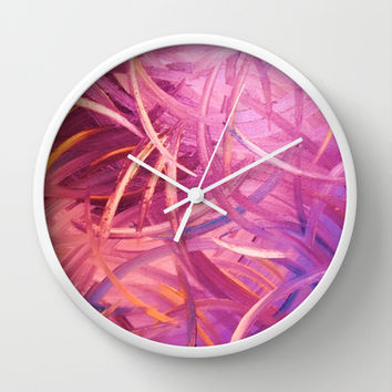 Pretty in pink Wall Clock by RokinRonda