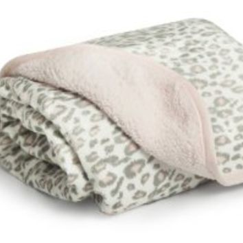 Carter's Velour Sherpa Blanket, Pink Cheetah