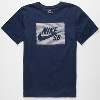 Nike Sb Herringbone Block Mens T-Shirt Navy  In Sizes