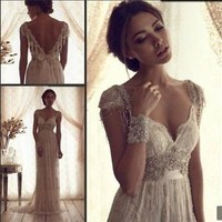 New Lace white /ivory wedding dress custom size 2-4-6-8-10-12-14-16-18-20-22+++