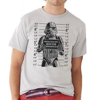 Star Wars Busted! Stormtrooper Mug Shot Unisex T-Shirt