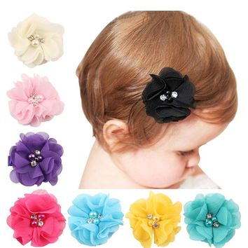 1 SET newborn Scrunchces Hair Clips Headdress Kids Hair  Accessories Gift Hairpins  H064