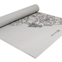 Gaiam Gray Peony Prosperity Print Yoga Mat (3mm)