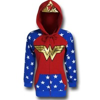 Wonder Woman Crown & Hood Women's Hoodie