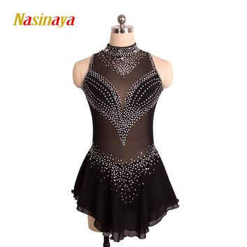 Customized Costume Ice Skating Figure Skating Dress Gymnastics Competition Adult Child Girl Skirt Performance Competition