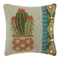 Cactus Flower Stars Vase Pillow