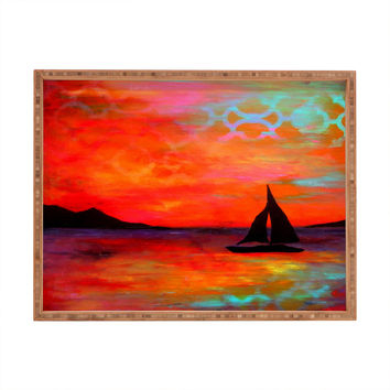 Sophia Buddenhagen Sail Away With Me Rectangular Tray