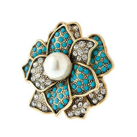 Pree Brulee - Blooming Beauty Ring - Blue