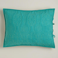Turquoise and Oasis Green Simone Pillow Shams, Set of 2 - World Market