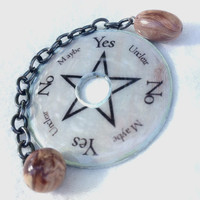 Travel Pendulum And Divination Board Resin Coated Washer Wicca Pagan