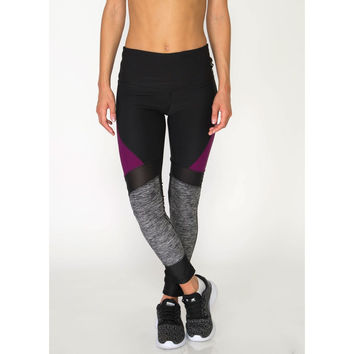 Studio Spliced Colorblock Leggings with Mesh Inserts