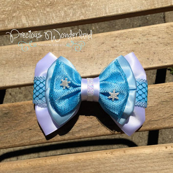 Disney Inspired Frozen Elsa Hair Bow