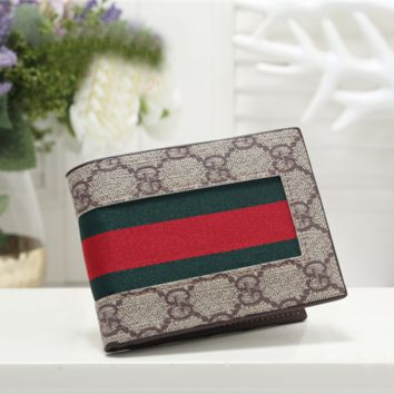 GUCCI Fashion Leather Purse Wallet
