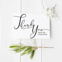 Thank You From the Newlyweds, Thank You Notes, Wedding Thank You Card, Thank You From Bride and Groom - Maid of Honor, Bridesmaid, Groomsmen