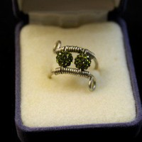 Pave Bead Ring – Olive