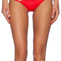 Frankie's Bikinis Ocean Side Bikini Bottom in Red