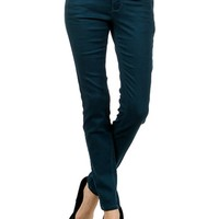 Colored Skinny Jeans, Teal
