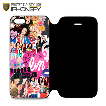 Little Mix Collage iPhone 5 Flip Case|iPhonefy