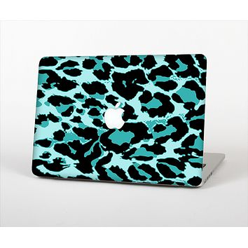 The Vector Hot Turquoise Cheetah Print Skin Set for the Apple MacBook Pro 15""