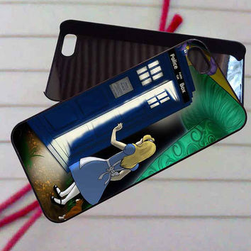 Alice in Wonderland & Doctor Who Tardis case iPhone 4/4s,5,5s,5c,6,6+samsung s3,4,5,6