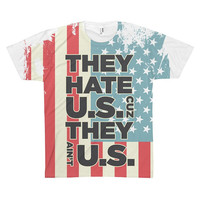 USA Tshirt 4th of July shirt They hate u.s. cus they ain't us America tshirt Vintage usa shirt Merica American shirt  Women Men tee shirt